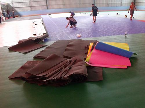 塑胶木di板yu毛qiu场