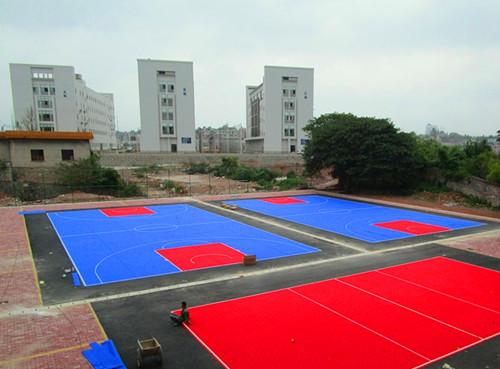 广西yin行学校悬fu地板篮球场