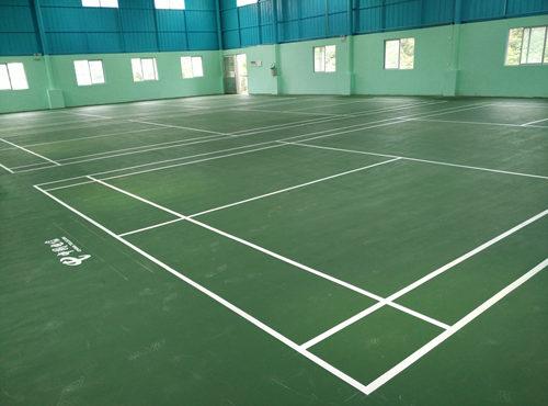 gao州电信室内硅PU羽mao球场