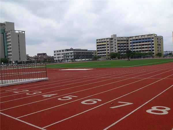 guang州轻工技工学校塑胶paodaojiren造草足球场