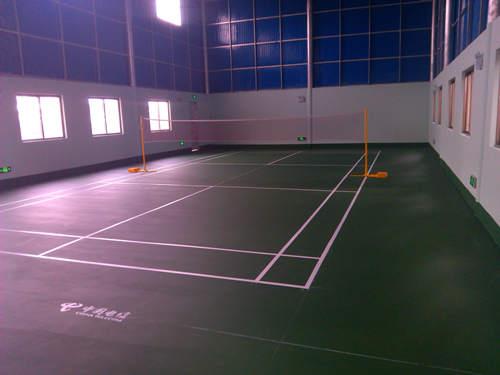 中guo电信茂名hua州gong司硅PU羽毛球场