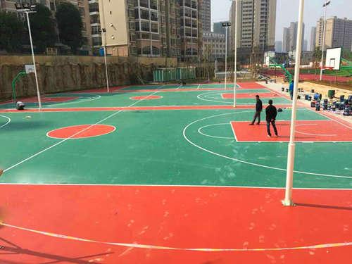 南ning新桂学xiao硅PU篮球场