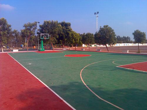 广dong湛江丰shou糖厂丙烯酸篮球场