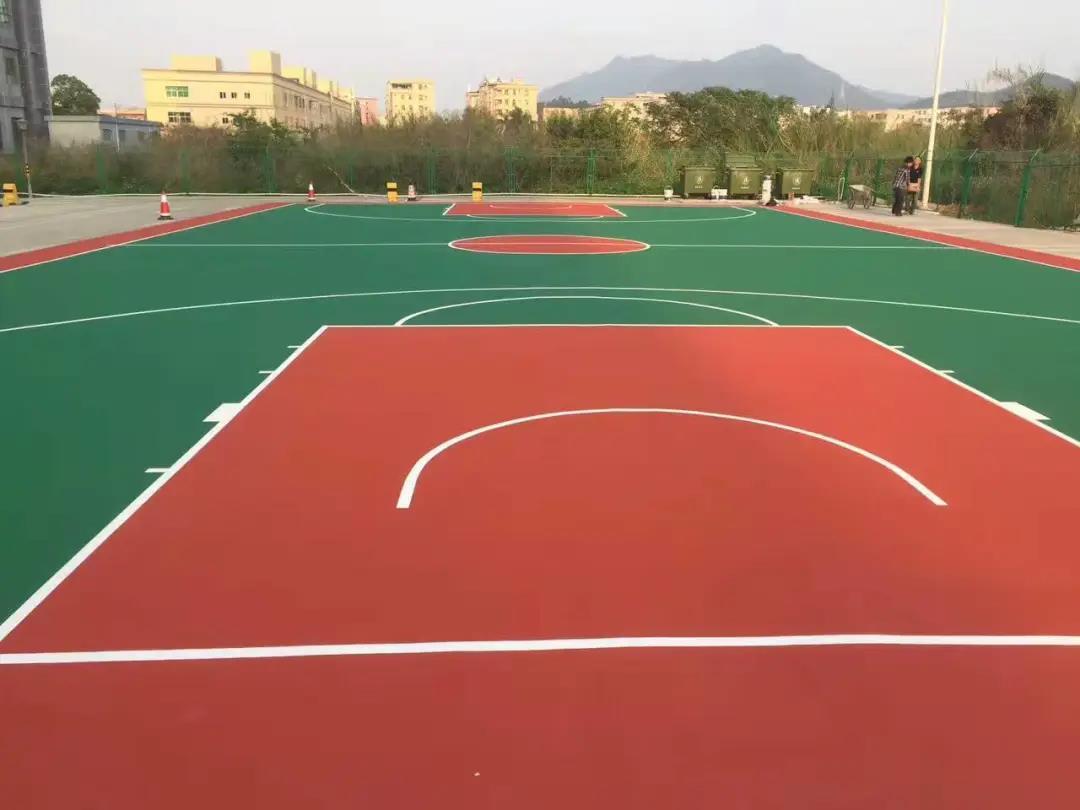 学校shi外篮qiu场造价大概是多少钱?
