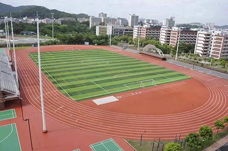 广zhou中学标准400米塑胶pao道